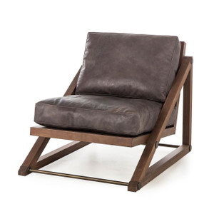 Teddy Espresso Leather Lounge Chair