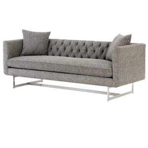 Austin Modern Tufted Sofa Grey Zin Home