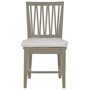 Nile Grey Wood Dining Side Chair with Cushion