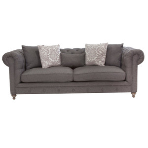 "Alice Charcoal Tufted Sofa 104"""