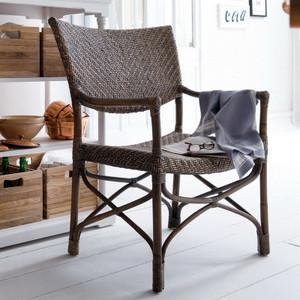 Director's Coastal Wicker Woven Chair