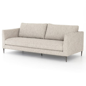 """Kailor Modern Neutral Fabric Sofa 87"""""""