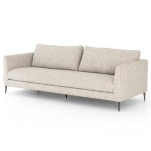 """Kailor Modern Neutral Fabric Sofa 97"""""""