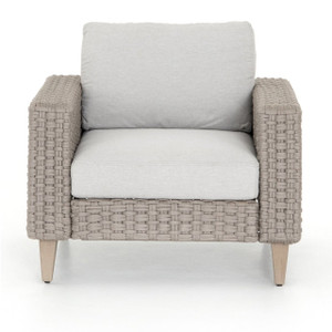 Remi Grey Woven Rope Outdoor Lounge Chair
