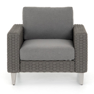 Remi Charcoal Woven Rope Outdoor Lounge Chair