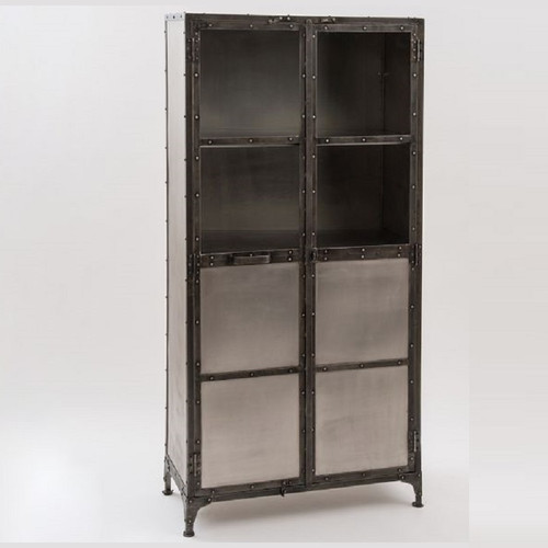 default table sideboard industrial miller timber shelf buffet hutch index hall