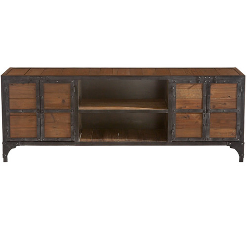 Industrial entertainment center zin home for Asian furniture tampa