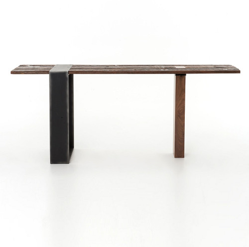 ... Bina Marlon Reclaimed Wood + Metal Console Table ...