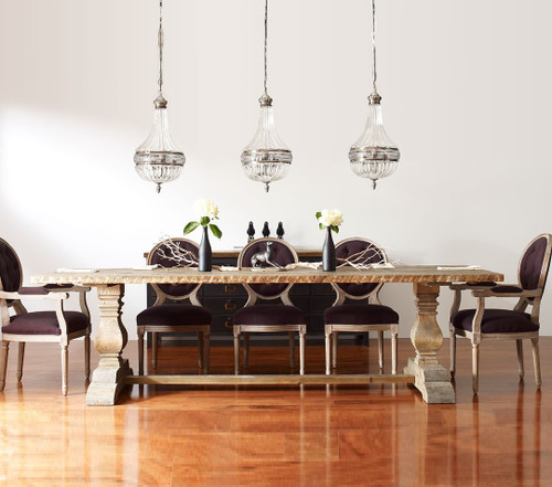 ... Room Table; Reclaimed Wood Trestle Dining Table Legs; Hughes Durham Dining  Table 87 With Oak ...