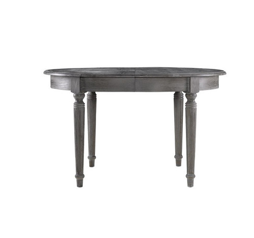 French Vintage Gray Oak Round Dining Table 48 ...