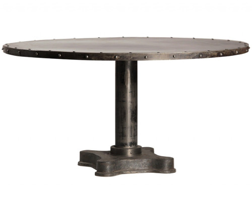 "Industrial 60"" Round Dining Table"