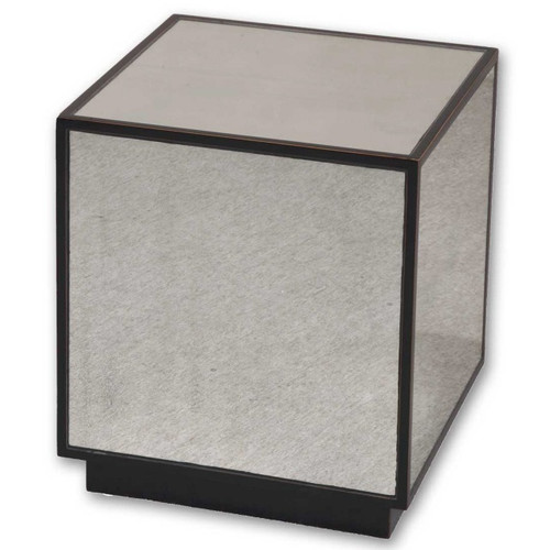 matty cube mirrored side table | zin home Cube Coffee Table