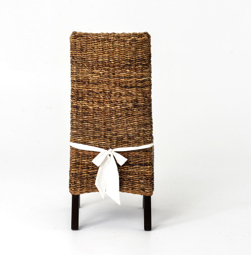 ... Banana Leaf Woven Side Chair With Cushion ...