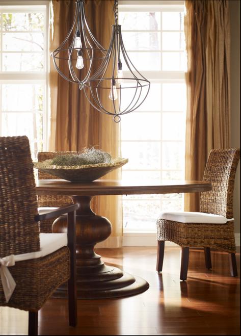 Merveilleux ... Banana Leaf Woven Side Chair With Cushion ...