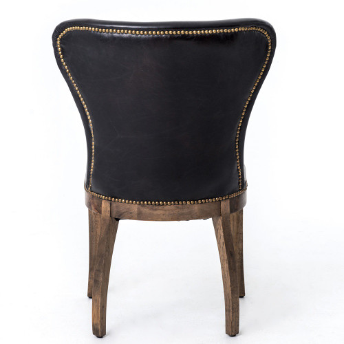 ... Richmond Black Leather Wingback Dining Room Chairs ...