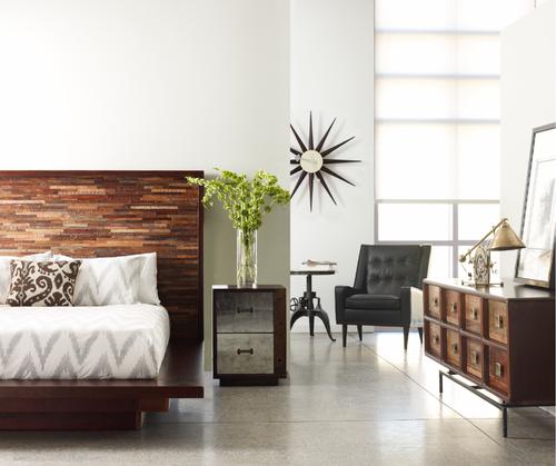 devon reclaimed wood queen platform bed frame zin home. Black Bedroom Furniture Sets. Home Design Ideas