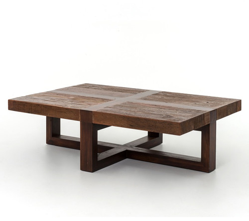 Coffee Table Using Reclaimed Wood: Reclaimed Wooden Rustic Coctail Table