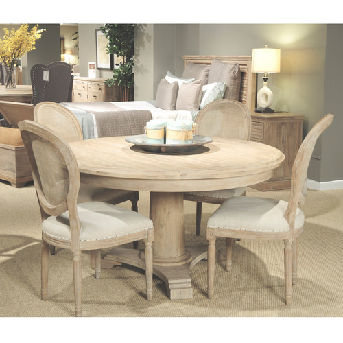 belmont round dining table 54   belmont round dining table 54     round column pedestal base tables      rh   zinhome com