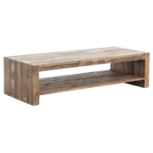 rectangle wood coffee table Angora Reclaimed Wood Coffee Table 48