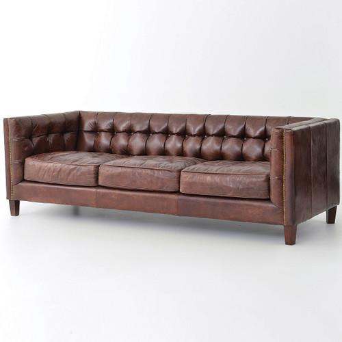 modern sofas for sale. Abbott Vintage Cigar Tufted Leather Sofa Modern Sofas For Sale O