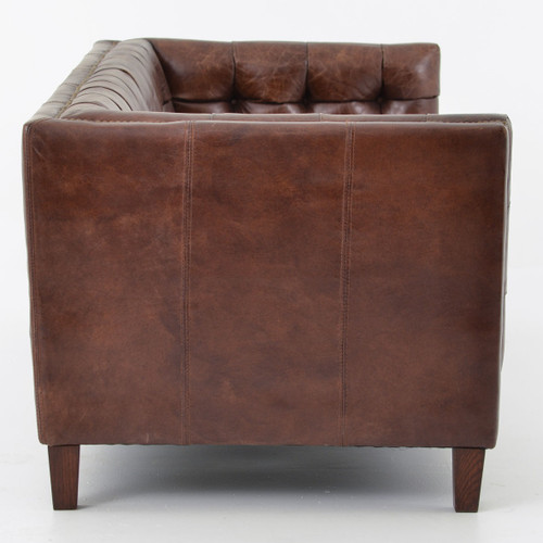 ... Abbott Tufted Leather Couch ...