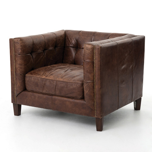 Delicieux Abbott Vintage Cigar Tufted Leather Club Chair ...