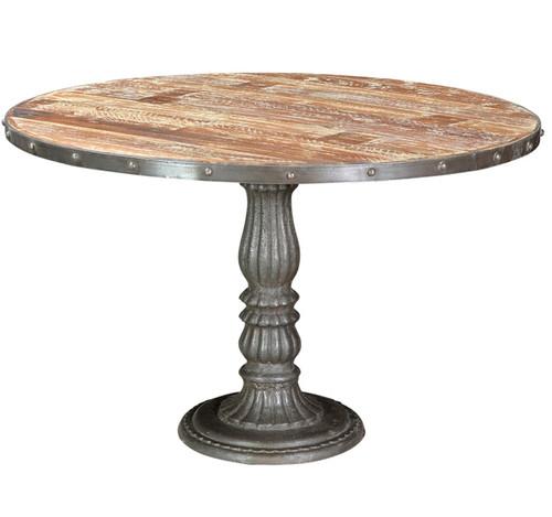 "French Soda Fountain Round Table 47"""