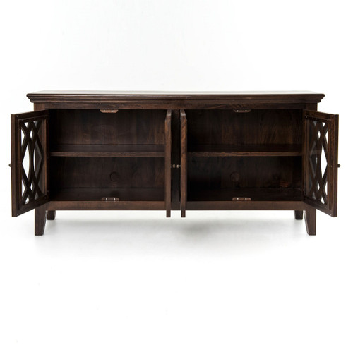 Andover Brown Collection Kitchen Cabinets Solid Wood Soft: Somerset Solid Wood 4-Door Large Sideboard-Antique Brown