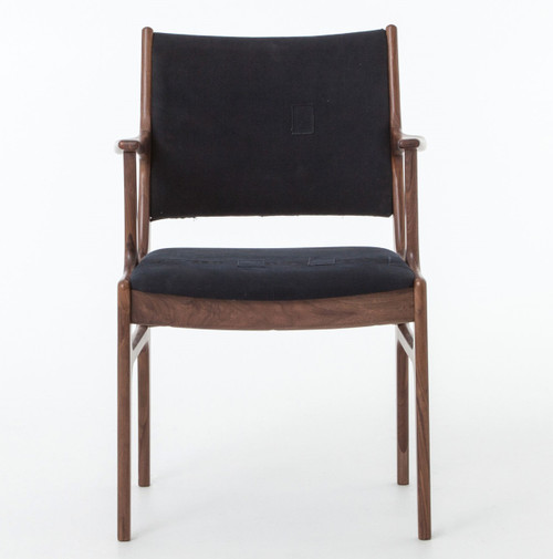 ... Blue Canvas Chair; Mid Century Modern Walnut Dining Chairs ...