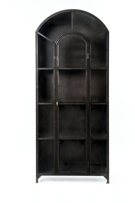 black wall finish doors cabinet size china of glass wood with medium curio