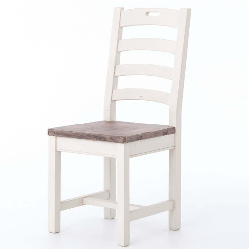 Cottage Ladder Back Dining Chair-White
