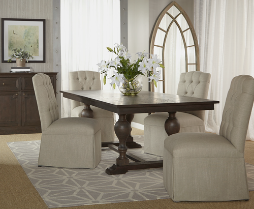 Astor Trestle Extension Dining Room Table 96