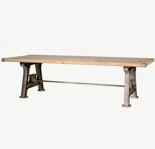Barnwood Industrial Dining Room Table 106\