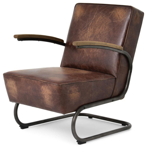 Airporter Iron And Leather Club Armchair