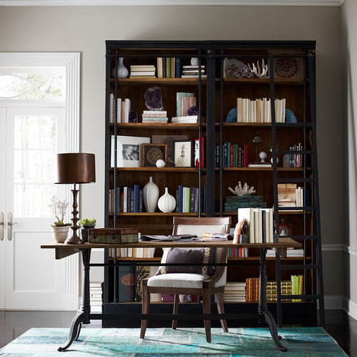 ... French Library Reclaimed Wood And Cast Iron Office Desk ...