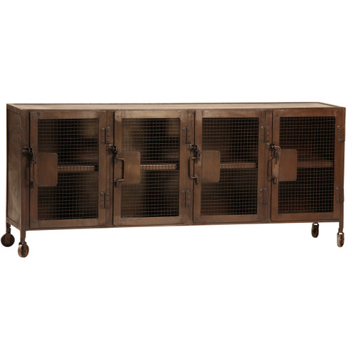 Vintage Industrial Iron Sideboard