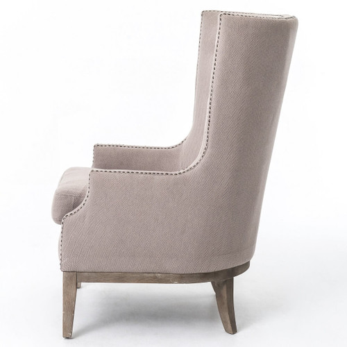 Superieur ... Lillian Grey Chevron Wingback Hostess Chair ...