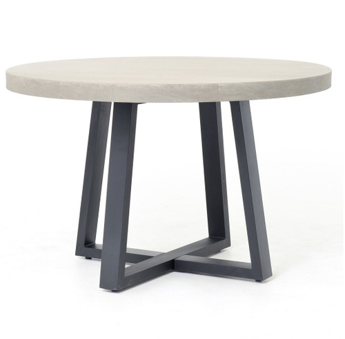 Masonry Concrete Round Dining Table Zin Home - Concrete and metal dining table