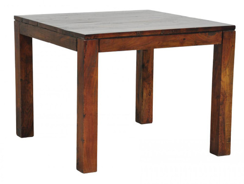 Hampton Distressed Wood Square Dining Table Zin Home - Distressed square dining table