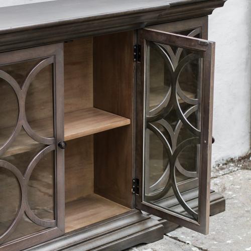 ... Belino 4 Door Wooden Sideboard Cabinet Sale With Glass Doors ...