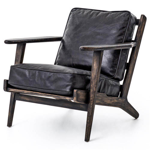 midcentury modern brooks leather lounge chair furniture chairs7 furniture