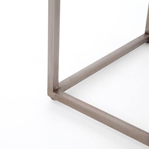 Rollins Industrial Loft Bronze Iron Console Table: Roman Box Frame Industrial Iron Console Table