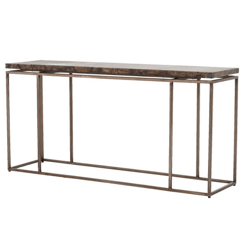 Box Console Table ~ Roman box frame industrial iron console table zin home