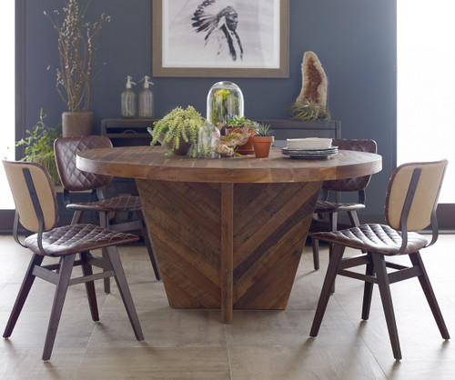 ... Sloan Quilted Havana Leather Dining Room Side Chair ...
