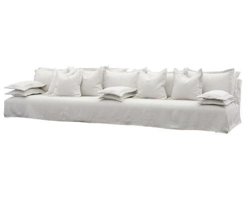 Esquire Bellevue\'s 12\'5 Linen Upholstered Sofa | Zin Home