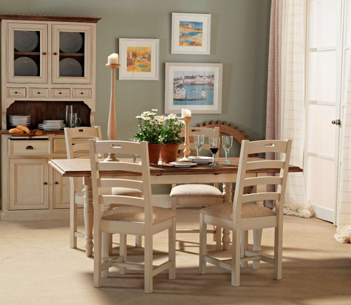 ... Beach House Dining Room Design With White Dining Table ...