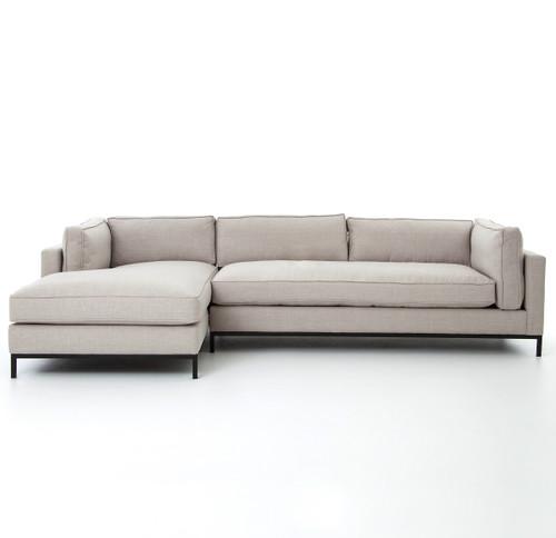 Grammercy Linen Upholstered Modern 2 Piece Sectional Sofa