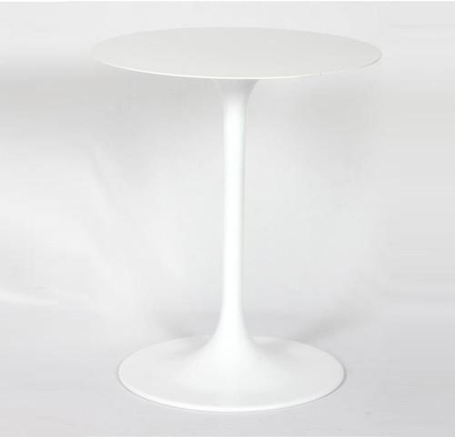 Tulip White Aluminum Round Side Table