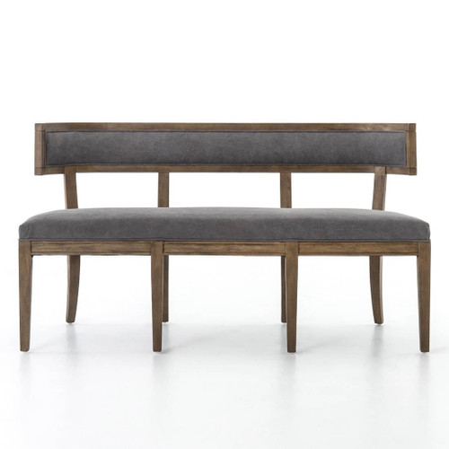 Techstyle Patchwork Upholstered Bedroom Bench Reviews: Carter Upholstered Curved Dining Bench