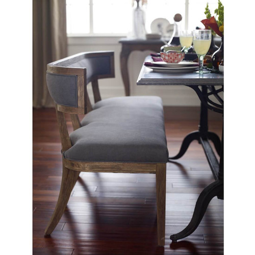 Carter Upholstered Curved Dining Bench Zin Home